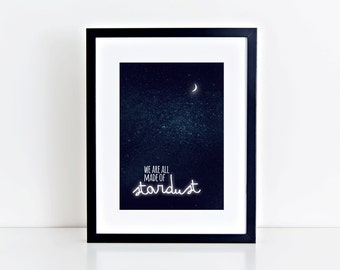 fine-art print poster stardust illustration night sky stars