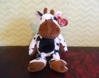 "TY Cow Beanie Baby ""Tipsy"""