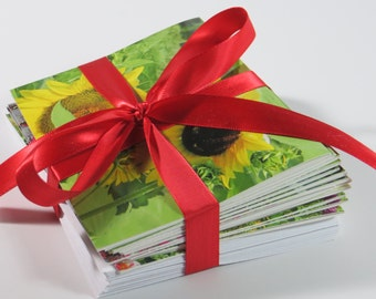 Flower Note Cards, Note Cards, Blank Note Cards, 16 Note Cards, Set of Note Cards, Greeting Cards, Stationery