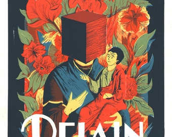 Screenprinted gig poster Delain // silkscreen concert poster // live at Vera Groningen(edition of 65)