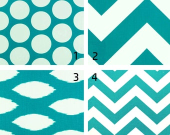Turquoise/ Teal Table Runner, Spring Table Runner, Spring Decor, Turquoise Wedding Table Runner, Chevron, Polka Dot, Easter Table Runner