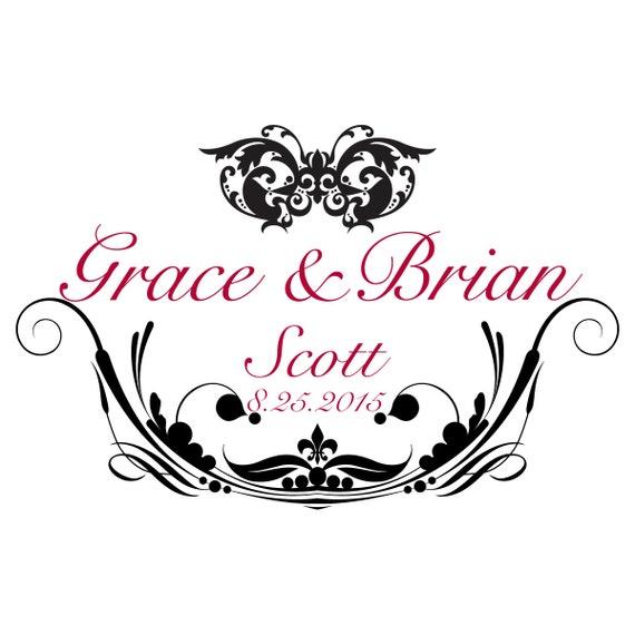Wedding monogram fonts script logo by
