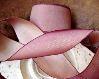 Marsala and Gold Iridescent Two Toned Ribbon
