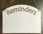 Reminders Whiteboard