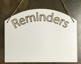 Reminders Whiteboard