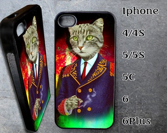 Gentleman Cat Case for iPhone Choose Your Case Size