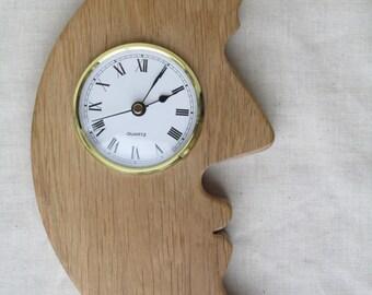 Oak Man In The Moon Clock