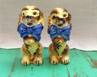 pampered pooch salt and pepper shakers
