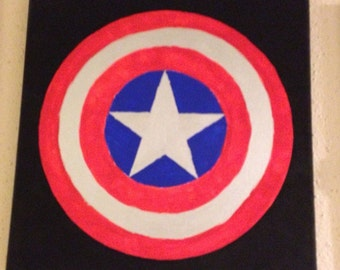 Captain America - Comic Book series - Painted Canvas