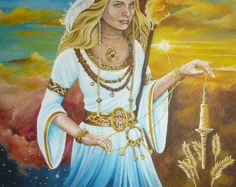 "A3 ""Norse Goddess Frigga""  Print"