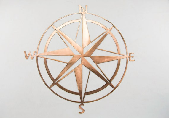 Nautical Compass with Copper Patina