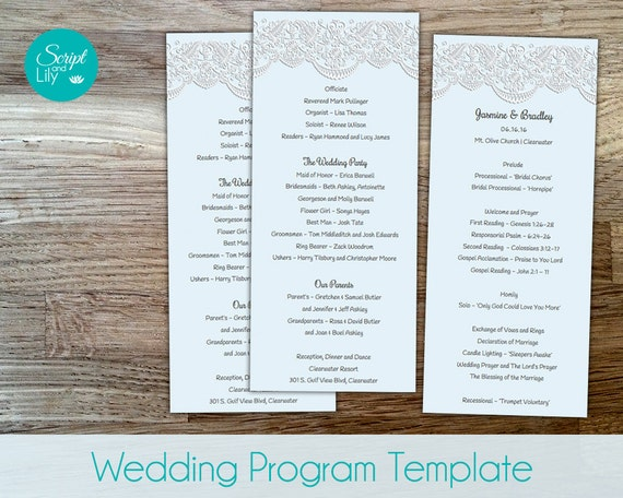 Wedding program templates for mac pages word