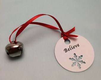Polar Express Party Favor: Polar Express Bell with Believe Tag, Class Christmas Favor, School Favor