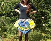 Plastic Bag Skirt, Upcycled Skirt, Festival Skirt, Waterproof Tutu