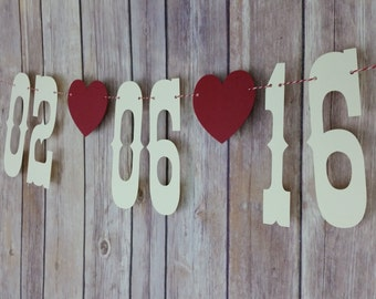 Save The Date Banner, Save The Date Sign, Save The Date Photo Prop, Wedding Date Announcement