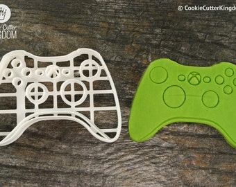 Xbox Video Game Controller Cookie Cutter and Stamp Set, Mini and Standard Sizes, 3D Printed