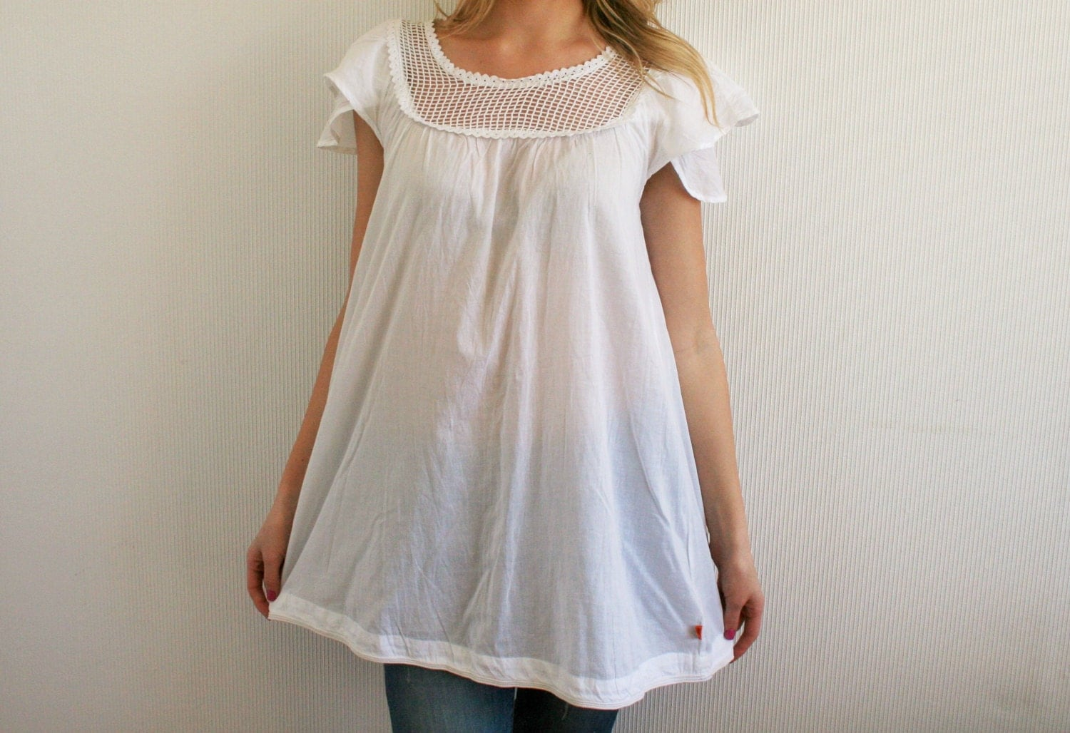 White Hippie Blouse 70