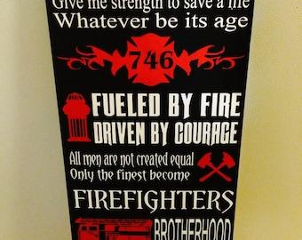 Firefighter Wall Art fireman wall art | etsy