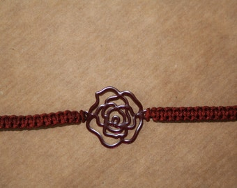 "Bracelet ""Floral"" Rust Color"