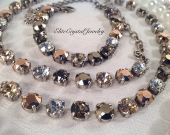 Golden Goddess Swarovski Necklace,Genuine Swarovski Crystals,A Fashion Favorite,Adds a Gorgeous Glow to Any Outfit!Designer Quality,Striking