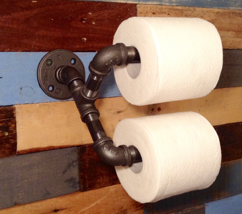 Man Cave Toilet Paper Holder : Industrial toilet paper holder decor man cave