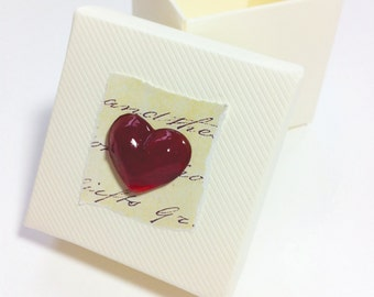 Red Heart Gift Box, Small Gift Box, Favour Box, Small Sweetie Box, Small Jewellery Box