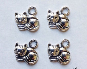10 cat kitty charms - SCC104