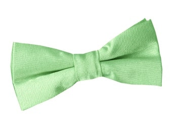 Satin Lime Green Boy's Bow Tie
