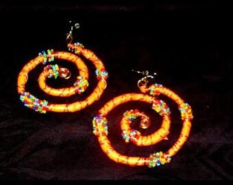 Swirl fantasy art deco earrings