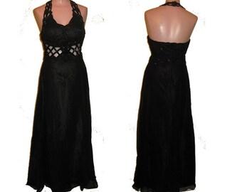 Long black gown