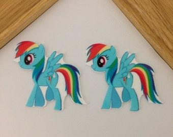 Character Planar Resin Set of 2 - Character Hair Bow Center - Character Flat Back Resin - Character Embelishment