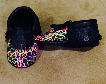 Neon Flowers Moccs