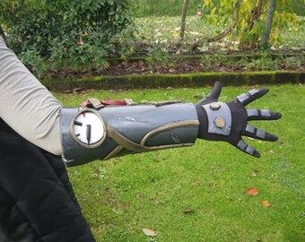 Bracelet with armor for cosplay Steampunk prosthetic glove sci-fi cyberpunk fantasy gothic horror mechanical steam Wells Gibson Sterling