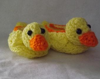 Yellow Duckie Booties