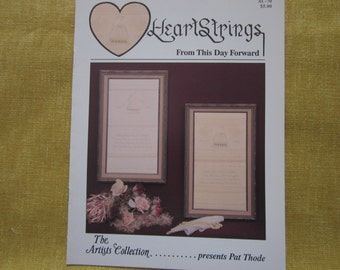 Heartstrings, From This Day Forward, wedding cross stitch,pattern