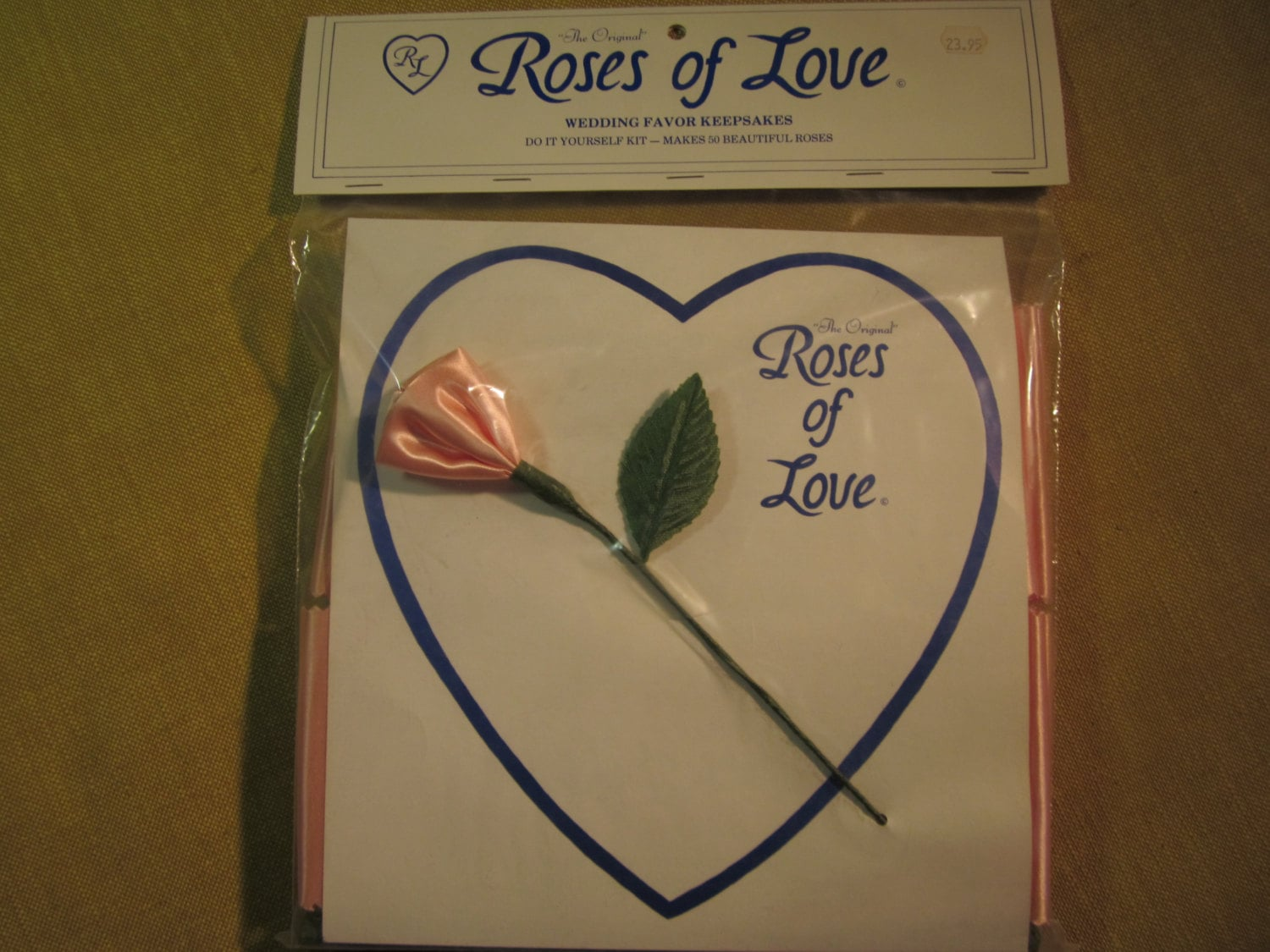Roses Of Love Wedding Favors 50 Make Yourself Roses Peach
