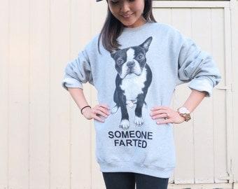 Boston Terrier Sweatshirt, Custom Sweater, Boston Terrier