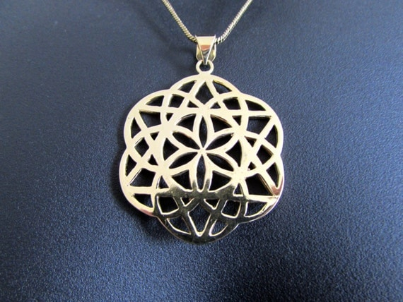 Seed of Life Big Pendant - Necklace Spiritual jewellery Yogi Jewellery Geometry Jewellery Handmade Free UK delivery BP4