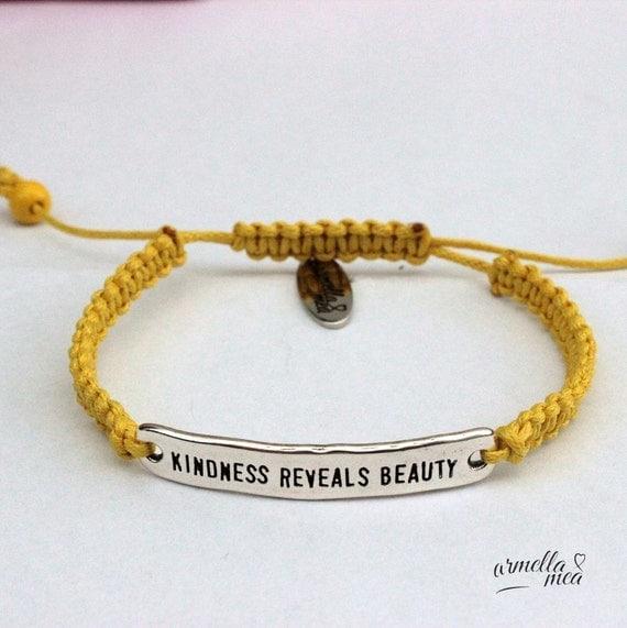 macrame bracelet macrame jewelry message by armellameajewelry