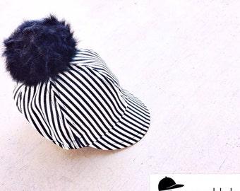 Baby, Toddler, Kids Pom Hat  / STRIPE