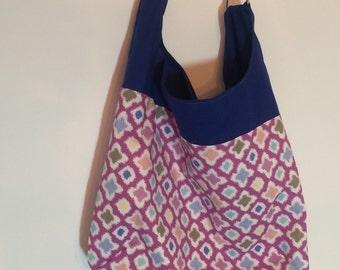 Purple hobo Bag, Sale, Purple Slouch Bag, purple purse, Summer bag, Purple shoulder bag, Fabric purse, Handmade purse, Purple slouch bag