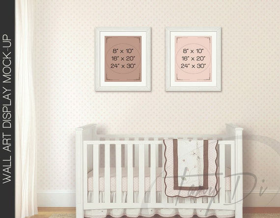 Kids room 2 interior set of portrait white by for Instant interior wall