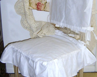 100% Linen chair cover. Shabby Chic