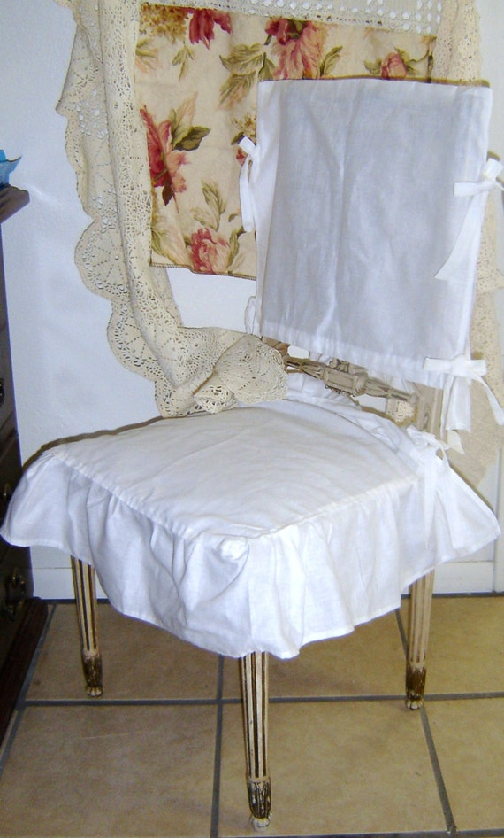 100 linen chair cover shabby chic by bohobagsnthings on etsy