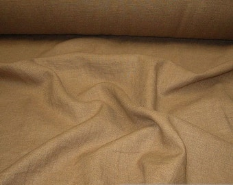 Fabric pure linen brown
