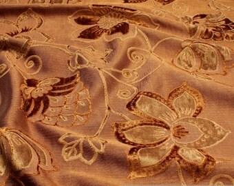 Fabric denim cupreous velvet blossom upholstery furniture cover 15.000 Martindale