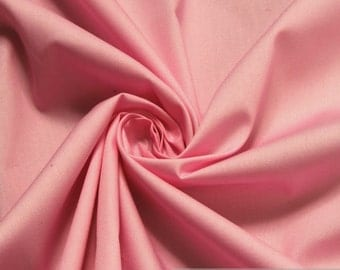Fabric pure cotton poplin pink