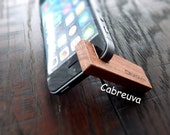 Cabreuva. Wooden stand iphone 5s. iphone 6. handmade.phone, + Keychain leather