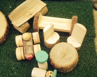 Natural Handmade Wooden Treehouse Accessories