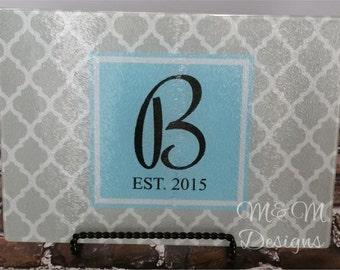 Monogrammed Cutting Board, Cutting Board, Wedding Gift, Anniversary Gift, Personalized Cutting Board, Housewarming Gift, Hostess Gift